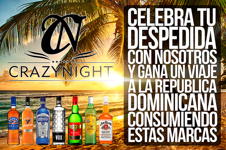 Promoción Despedidas Crazy Night con Brugal