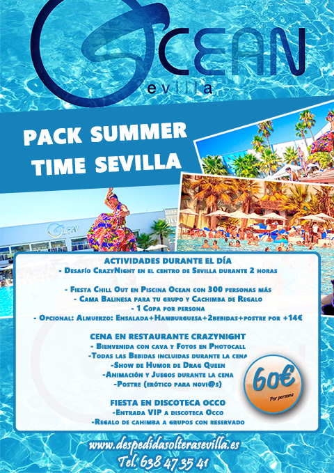 Fiesta Summer Time de Despedidas Sevilla Crazynight Nuevo!!!