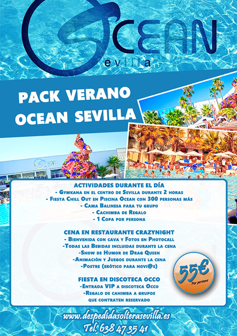 Fiesta Verano Ocean de Despedidas Sevilla Crazynight